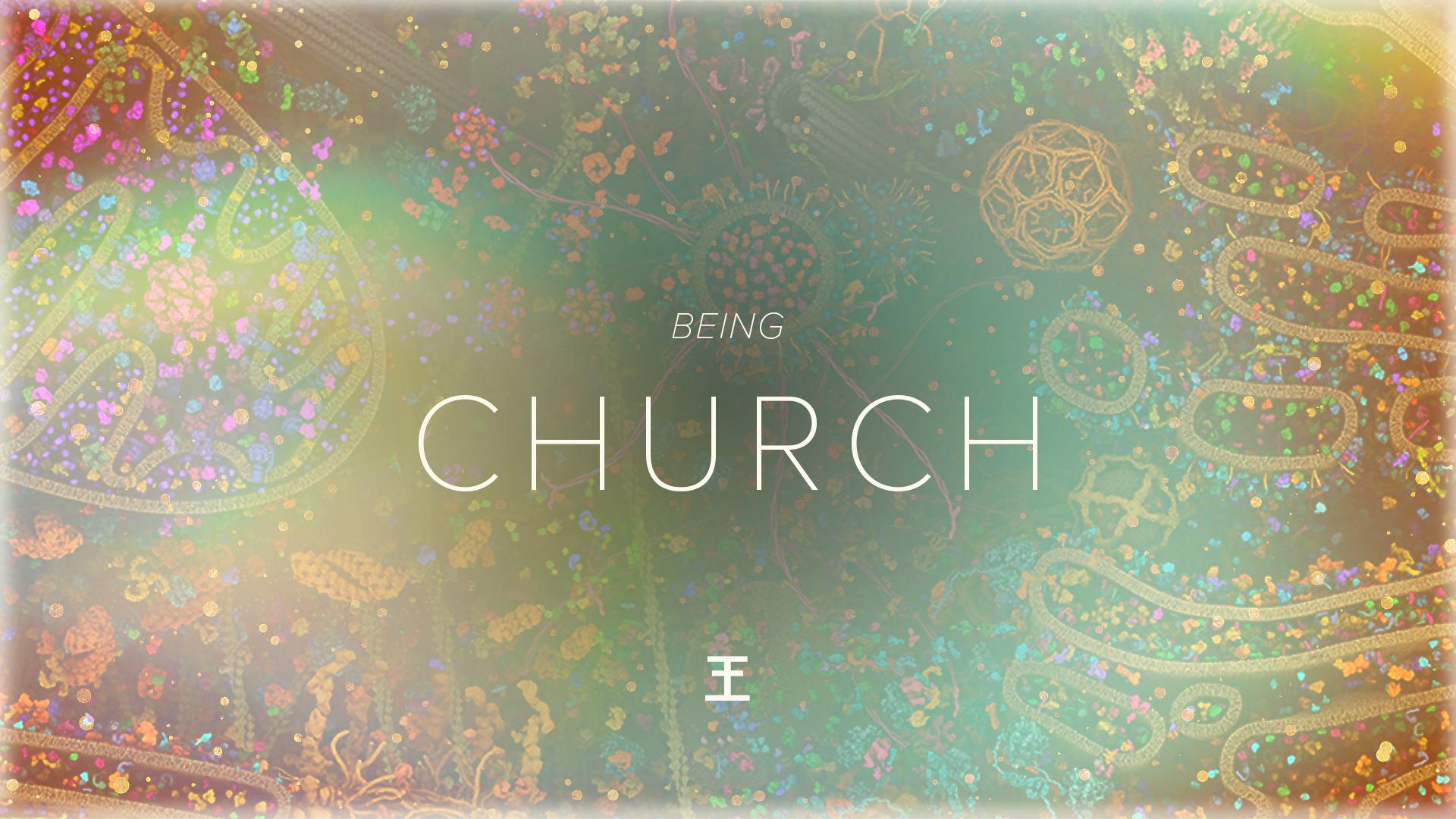 Being church web screen banner